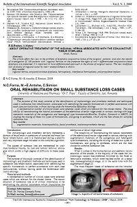 Oral rehabilitaion on small substance loss cases
