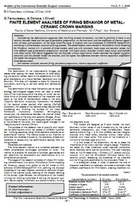 Finite element analyses of firing behavior of metal-ceramic crown margins